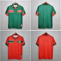 القمة 1998 المغرب الرجعية لكرة القدم الفانيلة قميص نايبت كرة القدم نتريز جيرسي أبرامي هادجي واقية كلاسيك مايلوت دي القدم