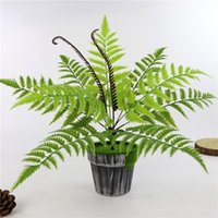 Fiori decorativi GATHONHS 9 TESTE FAKE PLASTICA PIASTICHE ARTIFICIALE Fern Fern Bouquet Palm Leaves Green Home Decor YYY8104