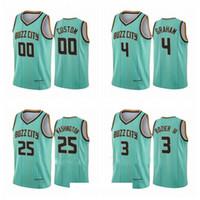 Männer Devonte 'Graham # 00 2 Lamelo Ball Jersey 2020-21 Mint grünes Buzz City Jersey S-3XL