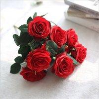 Simulation Seide Rose Blumenstrauß 10 Köpfe Künstliche Rose Valentinstag Festival Hochzeit Home Wohnzimmer Dekoration Blumen YYB3896