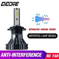 Cicore H 4 LED سيارة المصباح المصابيح H7 H11 H1 H4 HB3 HB4 55W 12000LM V6 برو CSP رقاقة 9005 9006 الضباب ضوء 12 فولت 6000 كيلو باور