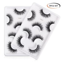 4 8 pairs Soft Fake Eyelashes Thick Natural Long 3D Lashes Volume Eyelashes Makeup False Lash Extension Beauty
