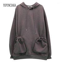 Hoodies das mulheres moletom yupinciaga hoodie plus veludo mulheres mangas compridas soltas selvagens acolchoadas de moletom com capuz meninas com capuz adolescentes1