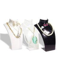 3 x Modeschmuck Display Büste Acryl Schmuck Halskette Aufbewahrungsbox Ohrring Anhänger Organizer Display Set Stand Halter Mannequin yf1tp