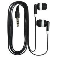 Écouteurs câblés à faible coût coloré noir coloré pour bus ou train ou avion pour le cadeau d'école du musée théâtre
