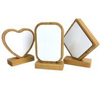 DIYマニュアルフォトフレームの昇華空白竹の愛の心の円形の絵画フレーム磁石の両面の取り外し可能な13bd G2