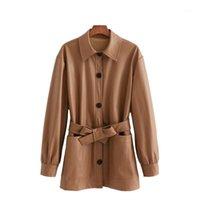 Puwd vintage mulher marrom sol solto plutos camisa jaqueta outono inverno moda senhoras espessura outerwear feminino casual casual revestimentos de grandes dimensões1