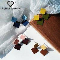 Плодотворный творческий хит цвет геометрические серьги серьги замороженные круглые круглые металлические текстуры сшивают дисковые подвесные серьги для женщин1
