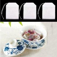 100 pcs / pacote de saquinhos de chá 5,5 x 7cm Sacos de chá com scented vazio com string cure papel de filtro de vedação para erva chá solto EEE2189