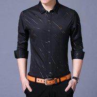Jbersee Black белые мужчины рубашка весна осень новая мода повседневная стройная подходящая корейская одежда с длинным рукавом платья рубашка мужчины