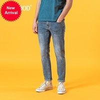 Simwood 2020 Yaz Yeni Slim Fit Açık Mavi Kot Erkekler Moda Klasik Denim Pantolon Yüksek Kaliteli Marka Giyim SJ120387