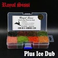 Royal Sissi Hare's Haw Dubbing Plus Ice Dub 8 ocolors Dispenser Чешский Скал Дуб летать рыбалка связывание материалов Spiky лазерные волосы кролика 201106