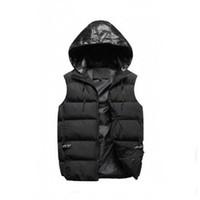 Atacado Homens Outer Desgaste Winter Winter World Vest Feather Design Casacos Casuais Coletes Casaco Mens Down Casacos