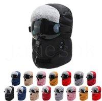 Kış Trapper Şapka Rüzgar Geçirmez Bisiklet Hood Şapka Göz Temizle Kalkanı Kalın Ile Sıcak Yüz Koruma Kulak Flaps Maske Açık Kayak Kapağı DB244