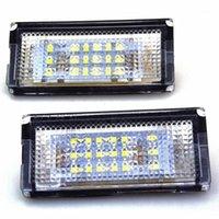 자동차 후면보기 카메라 주차 센서 2 조각 LED 라이센스 플레이트 라이트 CANBUS 자동 꼬리 화이트 전구 3er E46 4D 1998-2003 Accoossion1