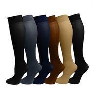 Chaussettes pour hommes 1 paire Antifatigue Unisexe Compression Vol Voyage Anti-fatigue Bas Haute Bas Souce magique Femme Mésias Socks Socks1