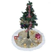 Jupe d'arbre de Noël SEQUINS PEUILLANTS Glittering 96cm Decor de la fête HautCale Drop Shipping1