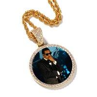 Hip Hop ha ghiacciato con la collana del pendente personalizzata con la collana della catena di corda rotonda con le ali lucenti gioielli di zircone di rame per gli uomini Donne amore regalo