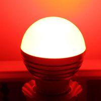 Best E27 3W RGB LED Dimmable Light Bulb 85-265V Light Bulb office New and high quality Light Bulbs