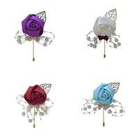 결혼식 용품 브로치 인공 진주 꽃 신랑 신부 멀티 컬러 브로치 리본 핀 액세서리 결혼 선물 기념품 3 6CC P2
