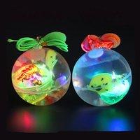Giocattolo Bouncing 5.5cm Gomma Lampeggiante Palla luminosa palla luminosa LED Anti Stress Divertimento Giocattoli per bambini Regalo Casuale Colore Bambini