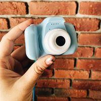 Nova Chegue Venda Quente Mini Children's Câmera Recarregável Pink Photo Playback 32 GB Crianças Brinquedos Criança Menina Aniversário Presente