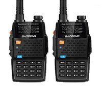 2pcs Baofeng Walkie Talkies UV-5R 4Thgeneration Black Knight 136-174 / 400-520MHz Transmettitore FM professionale con H1