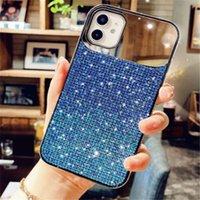 Bling glitter makeup makeup telefone caso para iphone 12 11 pro max mini x xs xr 8 7 mais capa de telefone de luxo