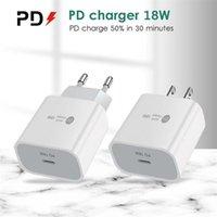 Type-C 18W PD Быстрая зарядка 18 Walt Power QC3.0 быстрое зарядное устройство для настенного устройства для мобильного телефона с портом USB-C для iPhone 11 12