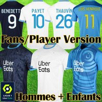 Jersey de football Olympique de Marseille 20 21 om 2020 2021 Maillot Foot Payet Thaauvin Benedetto Maillots Shirt Football Hommes + Enfants Troisième