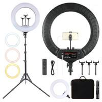 FOSOTO FT-54 21 inç LED Halka Işık Fotoğraf Aydınlatma Kamera Telefonu Halkası Makyaj Video Halka Lambası Ile Tripod ve Remote1