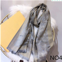 Seidenschal 4 Jahreszeiten Pashmina Schal Blatt Klee Mode Frau Tuch Schals Größe ca. 180x70cm 7color mit Geschenkverpackung optional