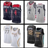 Russell 4 Westbrook Jersey 2020 2021 New WashingtonMagos77 Doncic Ja 12 Morant Luka Jayson 0 Tatum Men Basketball Camisas