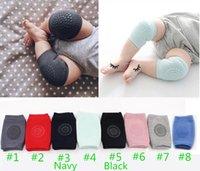 Protecteurs de chaussettes antidérapante gratuites de DHL 8 couleurs pour bébés PADS Protecteur genou Enfants Kneecaps Enfants Courts Courtiers de jambe