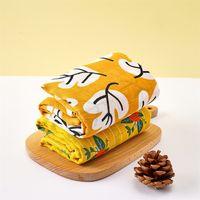 Kangobaby #my Мягкая жизнь # Ярко красочный цветок и лист набор мусынов пелена, одеяло LJ201204