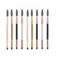 Multicolor Duplo Acumular Cílios Curler Sobrancelha Escova Dois Escova Plana Produtos Cosméticos Ferramentas de Beleza Composição De Maquiagem WQ345