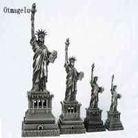Dekorative Objekte Figuren Souvenirs USA Statue der Freiheit Metall Dekoration Ornamente Modell Home Büro Dekor Handwerk Miniaturen Geschenk