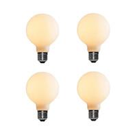 Liiiartman 6W LED Ampul G80, E27 Baz Mat Opal Sıcak Beyaz 2500 K CRI95 420LM, 50 W Eşdeğer Edison Ampul (4-Pack)