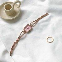 luce orologio giapponese bottone giapponese donne hot monili di lusso moda quadrato orologio donna t4aehizh