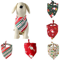 Christmas Pet Scarf Dog Cat Triangular Binder Bandana Cartoo...