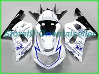 Custom Blue White AE037 Kit de Feira para Suzuki GSXR 600 750 K1 2001 2002 2003 GSXR600 GSXR750 01 02 03 Kit de feiras de motocicleta