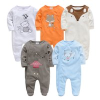Kavkas roupa de Bebes Infantil Menina Full Sleeve Neugeborenen Baby Boy Strampler Set 2 stück 3pc 5 stücke Bekleidungsset 201202