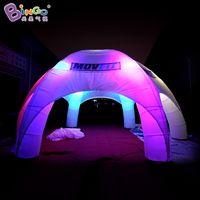 Персонализированные 8x8x4 метров 6 ног надувные паутины для паутины / светодиодные огни надувной паук-паук Купол / воздушная вечеринка Teys Toys Sports