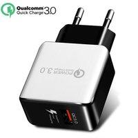 QC 3.0 Carregador de Parede Rápida USB Carga Rápida Viagem Adaptador de Potência de Viagem UE Plug Carregador de Telefone Celular