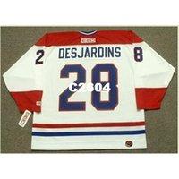 Мужские # 28 Эрик Дезиаджинс Монреаль Canadiens 1993 CCM Ретро подальше Домашнее хоккейное джерси или пользовательское имя или номер ретро Джерси