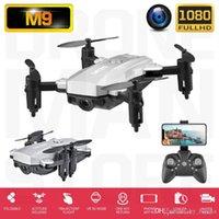 RC Mini RC Altitude HD Drone 1080P Quadcopter Droni fotocamera Pieghevoli Biglietti Pieghevoli Hold M9 Toys Telecomando Telecomando Elicottero FPV per WiFi RXKPL