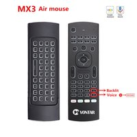 MX3 الخلفية ماوس الهواء الذكية صوت التحكم عن بعد MX3 برو 2.4 جرام اللاسلكية لوحة المفاتيح الدوران ir لالروبوت التلفزيون مربع T9 X96 ميني H96 MAX LJ200922