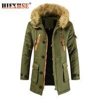 HIEXHSE Winter Jacket Men Parka Coat Brand Padded Artificial...