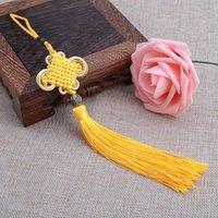 10 unids multicolor chino nudo borla pendientes de bricolaje accesorios de joyería casera cortina textil ropa de costura macrame decoración colgante h jllkte