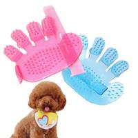 Pente do animal de estimação para cães Grooming Massagem Cinco dedo Luva Banheira Escova de Cabelo Cat Beleza Limpeza Suprimentos JK2012XB